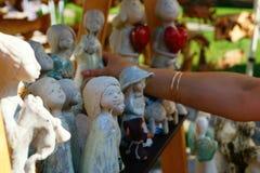 Αγορά των ειδωλίων των αγγέλων Στοκ φωτογραφίες με δικαίωμα ελεύθερης χρήσης