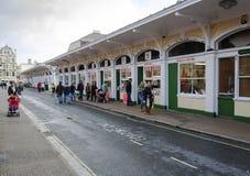 Αγορά υπόλοιπου κόσμου χασάπηδων Barnstaple Στοκ φωτογραφία με δικαίωμα ελεύθερης χρήσης