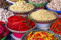 Αγορά φρούτων και λαχανικών στο Ανόι, παλαιό τέταρτο, Βιετνάμ, Ασία στοκ φωτογραφία