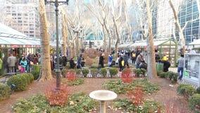 Αγορά Χριστουγέννων πάρκων του Bryant φιλμ μικρού μήκους