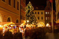 Αγορά Χριστουγέννων σε Goerlitz Στοκ φωτογραφία με δικαίωμα ελεύθερης χρήσης