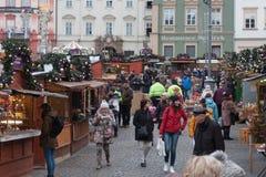 Αγορά Χριστουγέννων στην αγορά λάχανων Στοκ εικόνες με δικαίωμα ελεύθερης χρήσης