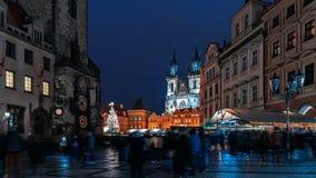 Αγορά Χριστουγέννων στην πλατεία Oldtown - Πράγα στοκ φωτογραφίες
