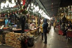 Αγορά Χριστουγέννων στην πλατεία Vorosmarty στη Βουδαπέστη, Ουγγαρία Στοκ Εικόνες