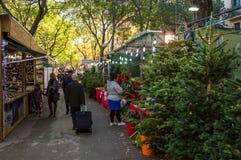 Αγορά Χριστουγέννων στη Βαρκελώνη στοκ εικόνα