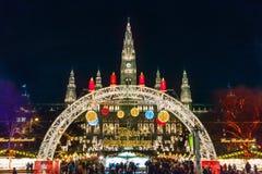 Αγορά Χριστουγέννων στη Βιέννη Στοκ Φωτογραφίες