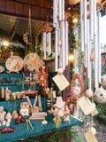Αγορά Χριστουγέννων στη παραλιακή πόλη στη λίμνη Στοκ Εικόνες