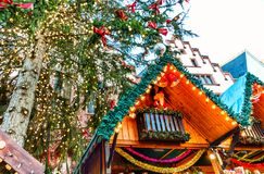 Αγορά Χριστουγέννων στη Φρανκφούρτη, Γερμανία Στοκ Εικόνες