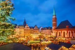 Αγορά Χριστουγέννων στη Φρανκφούρτη Στοκ Φωτογραφίες