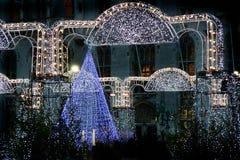 Αγορά Χριστουγέννων στο Μπρυζ, Βέλγιο Στοκ Εικόνα