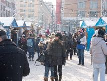 Αγορά Χριστουγέννων στο Μόντρεαλ, Καναδάς Στοκ εικόνα με δικαίωμα ελεύθερης χρήσης