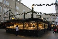 Αγορά Χριστουγέννων στο Σάλτζμπουργκ Στοκ Φωτογραφία