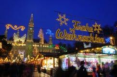 Αγορά Χριστουγέννων της Βιέννης Στοκ Φωτογραφίες