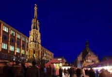 Αγορά Χριστουγέννων της Νυρεμβέργης Στοκ Εικόνες