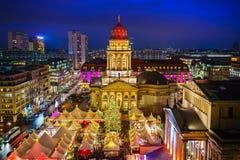 αγορά Χριστουγέννων του Βερολίνου Στοκ Φωτογραφίες