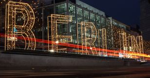 Αγορά Χριστουγέννων του Βερολίνου Στοκ εικόνα με δικαίωμα ελεύθερης χρήσης