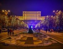 Αγορά Χριστουγέννων του Βουκουρεστι'ου στοκ φωτογραφίες