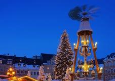 Αγορά Χριστουγέννων annaberg-Buchholz Στοκ Εικόνες
