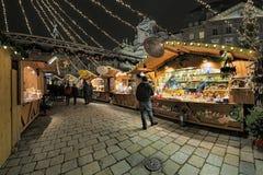 Αγορά Χριστουγέννων AM Hof στη Βιέννη, Αυστρία Στοκ Εικόνες