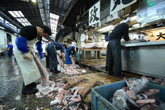 Αγορά ψαριών του Τόκιο Tsukiji Στοκ Φωτογραφία
