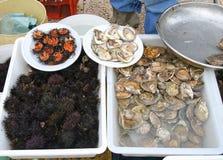 Αγορά ψαριών τροφίμων οδών στοκ φωτογραφία