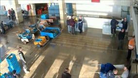 αγορά ψαριών απόθεμα βίντεο
