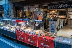 Αγορά ψαριών Tsukiji, Ιαπωνία Στοκ Φωτογραφία