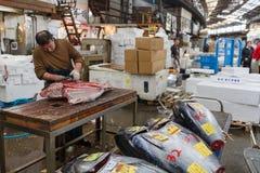 Αγορά ψαριών Tsukiji Στοκ Φωτογραφίες