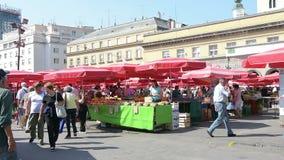 Αγορά Dolac στο Ζάγκρεμπ, Κροατία φιλμ μικρού μήκους