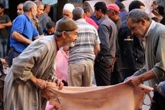 Αγορά Fez Μαρόκο δέρματος Στοκ Εικόνες