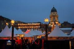 Αγορά Gendarmenmarkt Χριστουγέννων του Βερολίνου στοκ εικόνα με δικαίωμα ελεύθερης χρήσης