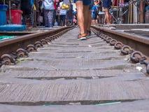 Αγορά Maeklong, Samutsongkram, Ταϊλάνδη Στοκ φωτογραφία με δικαίωμα ελεύθερης χρήσης