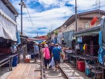 Αγορά Maeklong, Samutsongkram, Ταϊλάνδη Στοκ Φωτογραφία