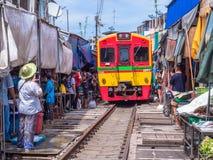 Αγορά Maeklong, Samutsongkram, Ταϊλάνδη Στοκ Εικόνες