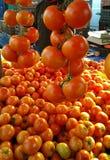 Αγορά Rethymno ντοματών Στοκ Εικόνες