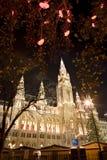 αγορά townhall Βιέννη Χριστουγένν&o στοκ φωτογραφίες