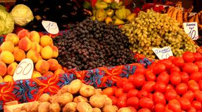 αγορά vegtabales Στοκ Εικόνα