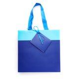 Αγορές ή τσάντα δώρων που απομονώνεται πέρα από το άσπρο υπόβαθρο Στοκ φωτογραφία με δικαίωμα ελεύθερης χρήσης