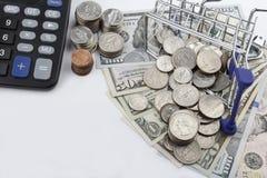 Αγορές αγάπης (αμερικανικά δολάρια με το διάστημα αντιγράφων) Στοκ Φωτογραφία