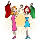 αγορές αγάπης κοριτσιών κ& Στοκ Εικόνα