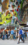 Αγορές ανθρώπων Στοκ Εικόνα