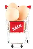 αγορές αυγών κάρρων Στοκ εικόνα με δικαίωμα ελεύθερης χρήσης