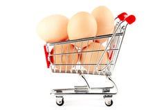 αγορές αυγών κάρρων Στοκ Εικόνα