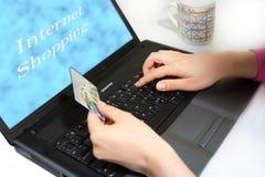 αγορές Διαδικτύου Στοκ Εικόνες