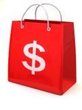 αγορές δολαρίων τσαντών Στοκ Εικόνα