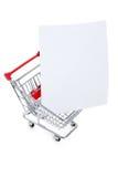 αγορές εγγράφου κάρρων Στοκ Εικόνες