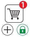 αγορές εικονιδίων Στοκ εικόνα με δικαίωμα ελεύθερης χρήσης