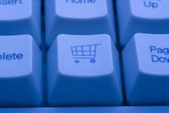 αγορές κάρρων κουμπιών Στοκ εικόνες με δικαίωμα ελεύθερης χρήσης