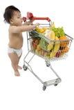 αγορές κάρρων μωρών Στοκ εικόνα με δικαίωμα ελεύθερης χρήσης