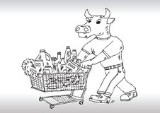 αγορές κάρρων ελεύθερη απεικόνιση δικαιώματος